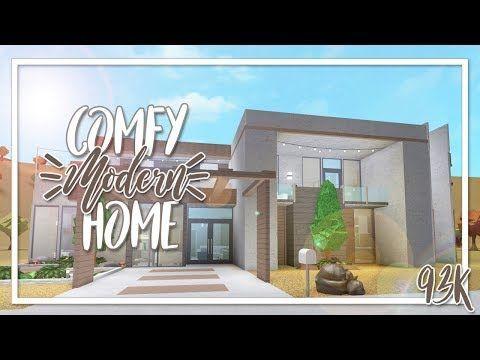Welcome To Bloxburg 95k Comfy Modern Home Youtube In 2020