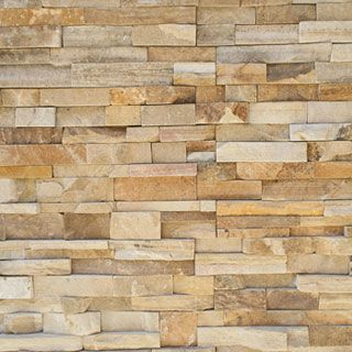 Honey Wheat Natural Stone Veneer Panels Family Room