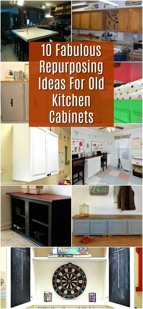10 Fabulous Repurposing Ideas For Old Kitchen Cabinets Repurposed Kitchen Old Kitchen Cabinets Diy Kitchen Cabinets