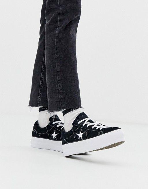 star black platform trainers