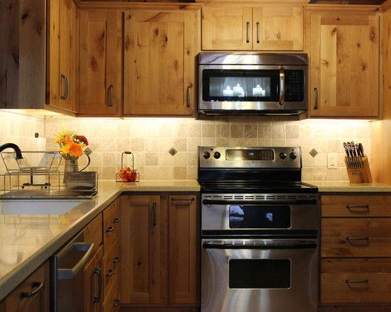 natural pine kitchen cabinets ovens knotty pine cabinets and microwave oven on 3451