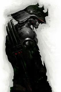 samurai in black