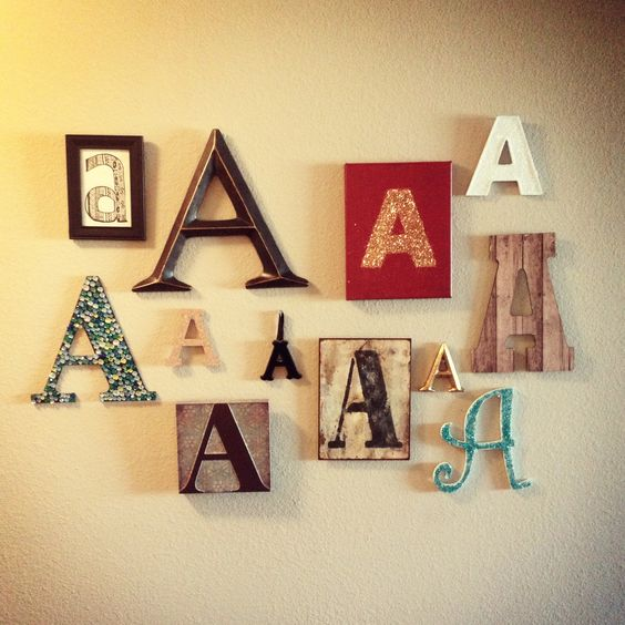A wall decoration diy letter wall diy crafts for Bathroom wall letters