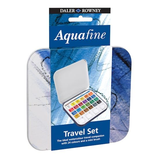 Daler Rowney Aquafine 24 Half Pan Travel Set Paint Michaels