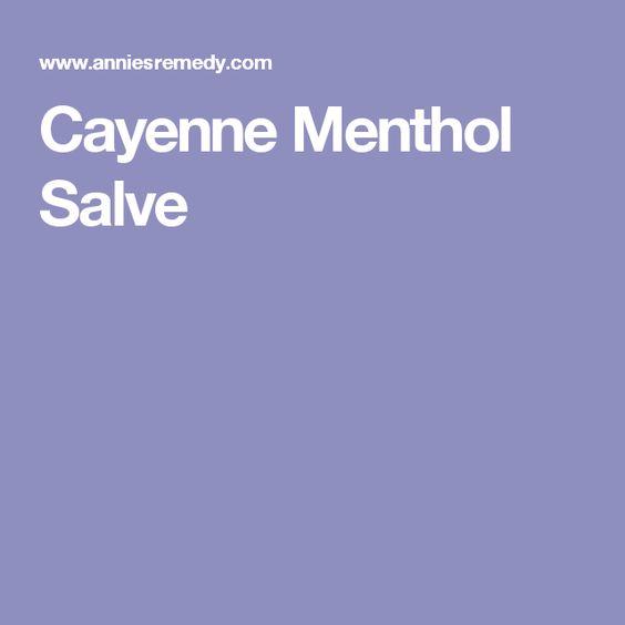 Cayenne Menthol Salve