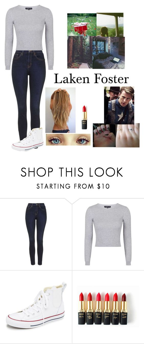 """69 - character I made up (avengers)"" by qveen-of-stars ❤ liked on Polyvore featuring Topshop, Converse, L'Oréal Paris, women's clothing, women's fashion, women, female, woman, misses and juniors"
