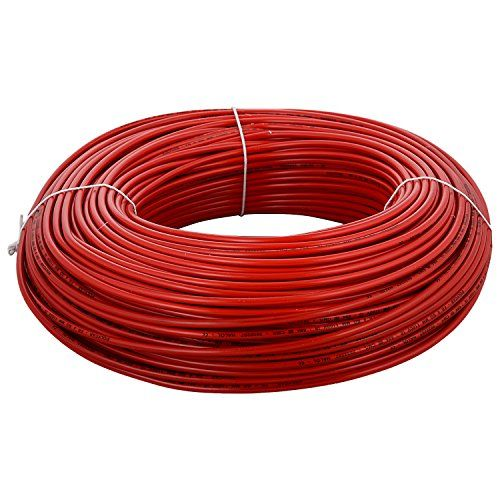 Finolex 0 5 Sqmm Single Core Fr Pvc Insulated Copper Flexible Cable Red In 2020 Cable Electricity Copper
