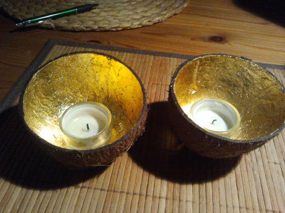 Cocosnuss mit Blattgold