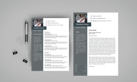 This Resume CV \ Cover Letter Set is made with high quality design - cover letter elements