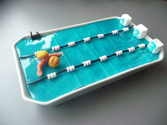 Un g teau piscine pour l 39 anniversaire de mon grand fan de water polo cuisine p tisserie - Piscine bassins anniversaire versailles ...