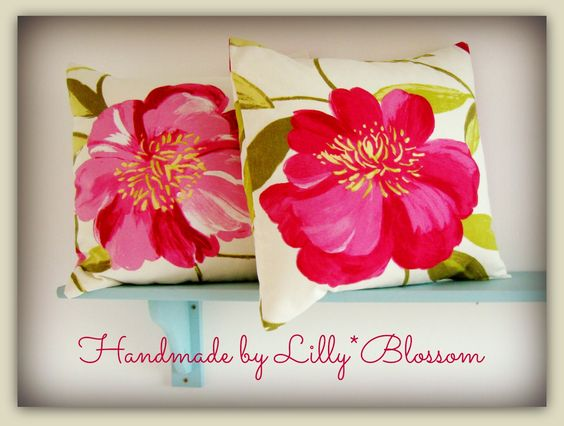 Handmade cushion covers from Honolulu bold floral cotton furnishing fabric. I love the large flowers in this fabric and have placed the flowers right in the middle of the cover for a bold look. You can make them too using my instand download sewing pattern over on Etsy. https://www.etsy.com/uk/listing/180088002/pdf-sewing-pattern-simple-envelope-style?ref=shop_home_active_13