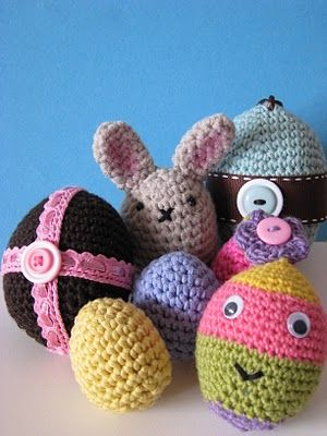 Crochet easter bits and pieces