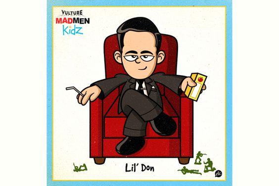 E se Mad Men fosse 1 programa infantil? Veja os personagens na versao kids http://www.bluebus.com.br/e-se-mad-men-fosse-1-programa-infantil-veja-os-personagens-na-versao-kids/