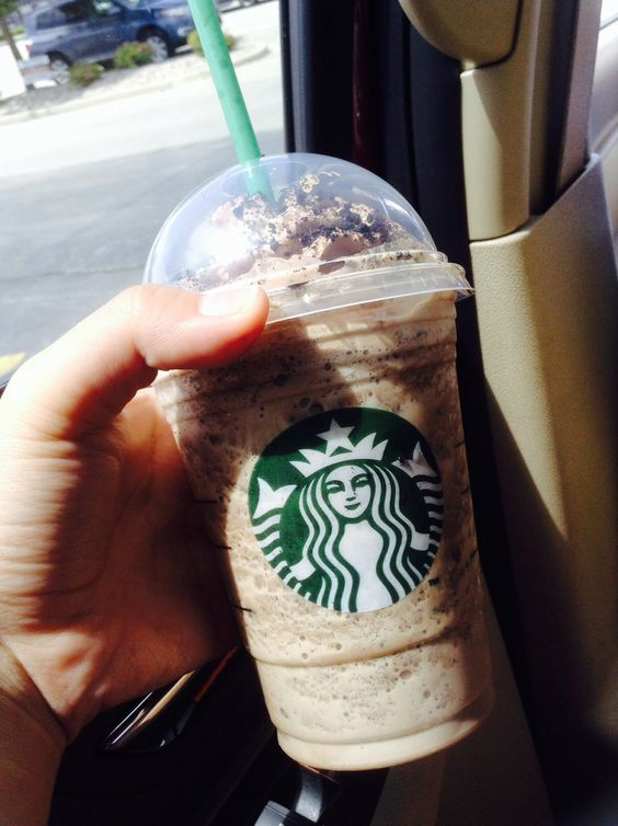 Starbucks! Mocha cookie crumble frappe... My favorite!!!