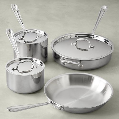 All Clad D3 Tri Ply Stainless Steel 7 Piece Cookware Set In 2021 Cookware Set All Clad Stainless Steel Cookware All clad 7 piece set