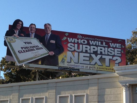 The Prize Patrol on a billboard?!?!