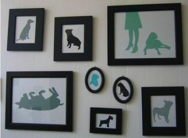 @Kristen Sykes @Carmen Oxide this little collage of animal sillouettes is so cute! diy-crafts