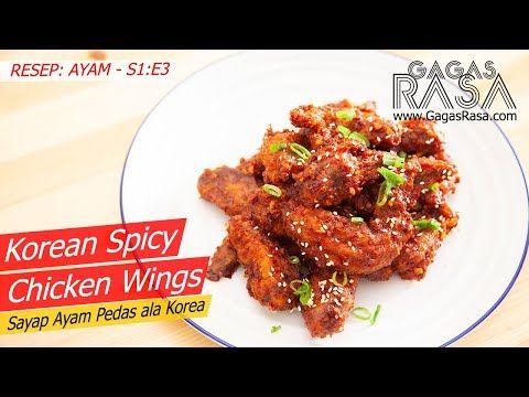 S1 E3 Korean Spicy Chicken Wings Sayap Ayam Pedas Ala Korea Resep Ayam Gagasrasa Youtube Sayap Ayam Resep Ayam Ayam
