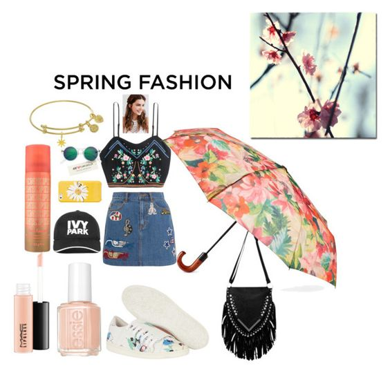 """spring set"" by naomy-nona ❤ liked on Polyvore featuring Marc Jacobs, REGALROSE, Kate Spade, Ivy Park, H&M, Patricia Nash, MAC Cosmetics, Essie, Comptoir Des Cotonniers and Trademark Fine Art"