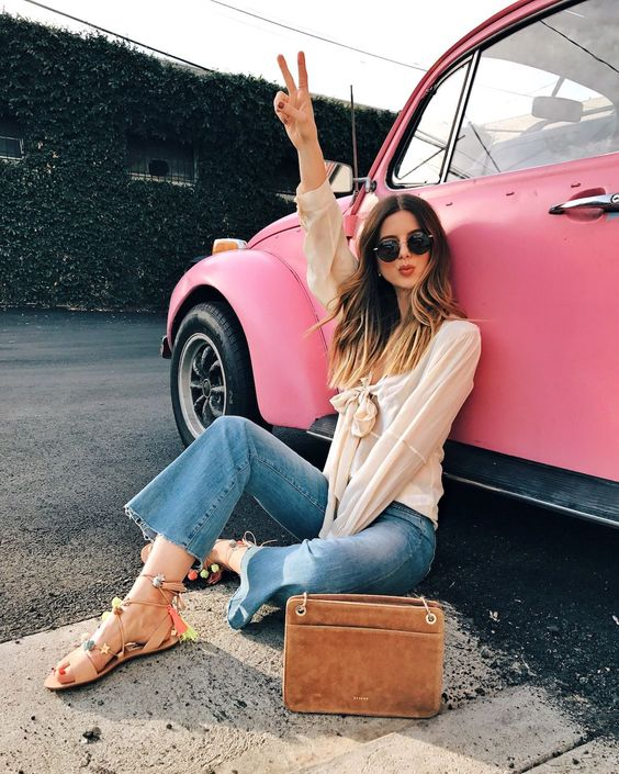Talking about yesterday's spontaneous photoshoot with an old pink vw bug   Vintage Car, Fashion Photoshoot   Los Angeles Fashion and Lifestyle Blogger