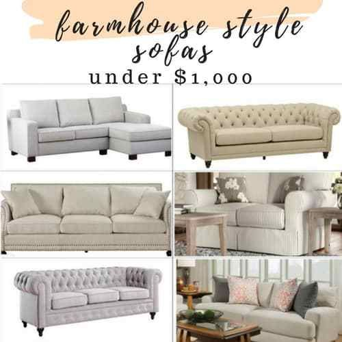 Affordable Farmhouse Style Sofa S And Sectionals For Under 1000