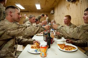US troops celebrate 11th Independence Day in Afghanistan with delivered pizzas, thanks to Pizzas 4 Patriots.