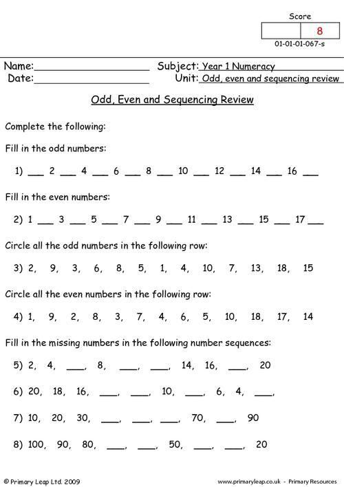 51 Odd And Even Numbers Worksheets In 2020