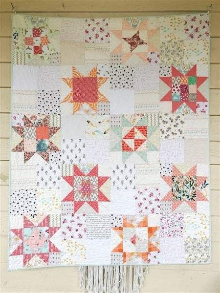Little Miss Sawtooth Quilt – #7 – The Coral Romantic Version – Quilt Reveal