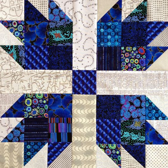 Wendy's quilts and more: Scrappy Bear Paw Quilt