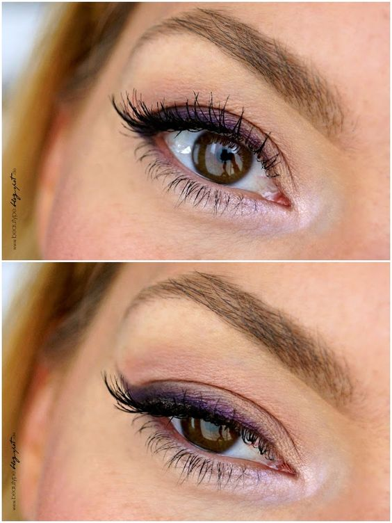 purple winged liner, smoked out on the lid + matching lavender highlight | makeup @ beautype