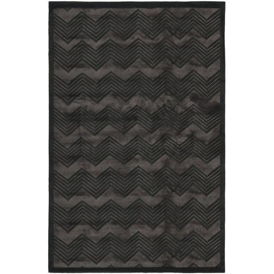 Monroe Chevron - Onyx - Nepalese - Floorcovering - Products - Ralph Lauren Home - RalphLaurenHome.com