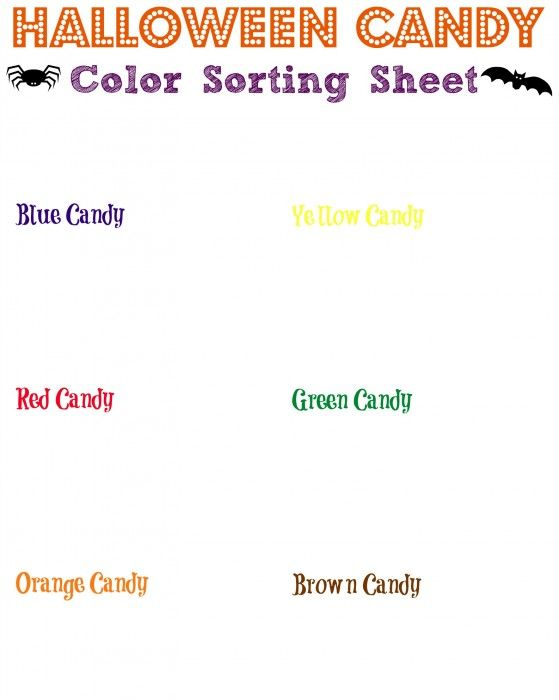 Free Candy Color Sorter ~ Homeschool Printables - product spec sheet template