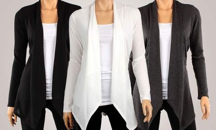 Groupon 3-Pack of Hacci Draped Cardigans