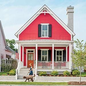 Best planned community gardens front porches and red houses for Beaufort sc architects