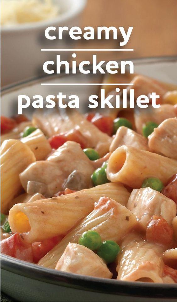 Creamy Rigatoni With Chicken And Mushrooms Recipe — Dishmaps