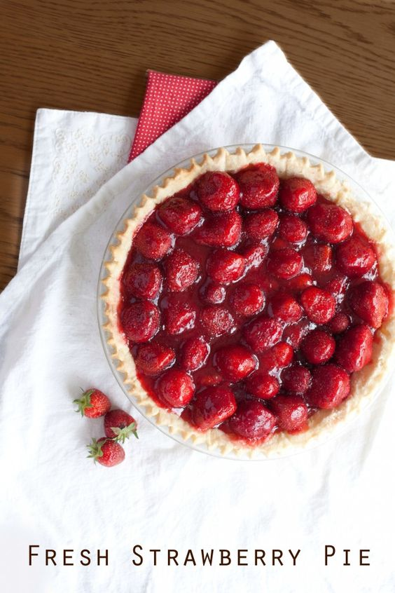 Fresh strawberry pie, Strawberry pie and Strawberry pie recipes on ...