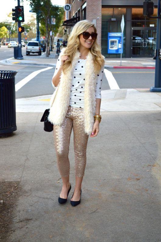 Sequin Pants | Zara