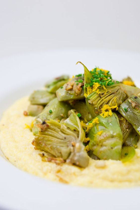Artichokes and grits!