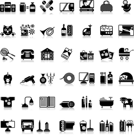 set of pictograms