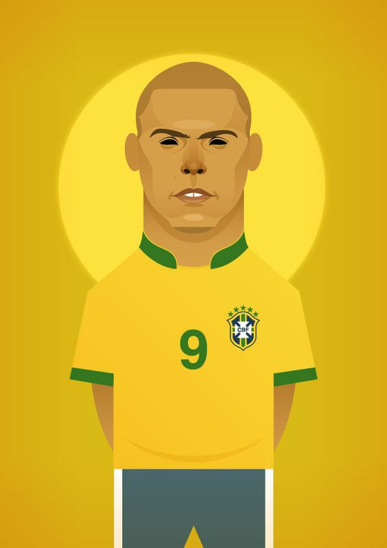 Stanley Chow Soccer Prints — Ronaldo Luís Nazário de Lima Repinned by Aline  Illustrations/graphic designs