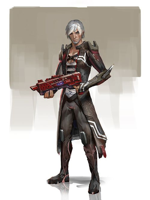 andrewartwork:    Fenris as a VanguardMass Age crossover