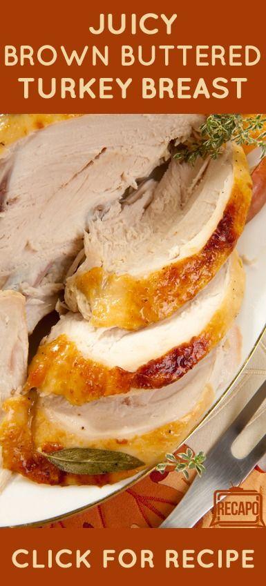 Chew Roasted Turkey Breast Recipe & Sage Brown Butter | Roasted Turkey ...