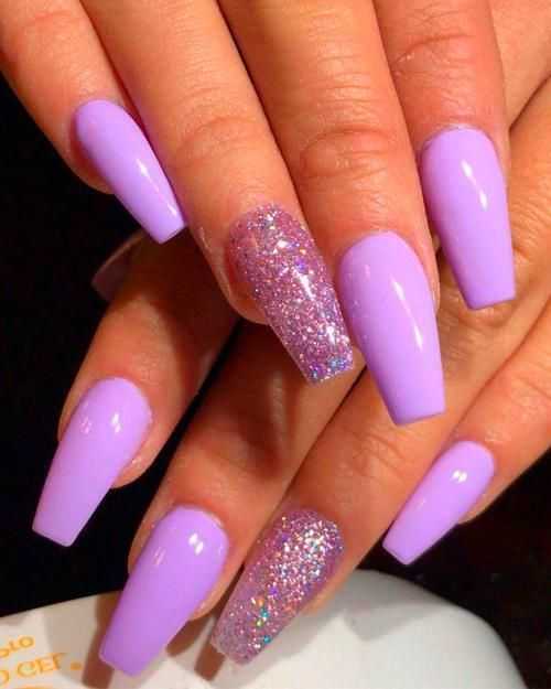 Coffin Nails Purple Acrylic Nails Accent Nail Designs Best Acrylic Nails
