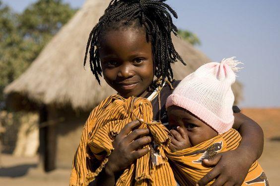 Family Safaris in Africa - Meeting children at Kawaza, Zambia