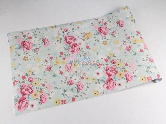 Papel de parede - papel-de-parede-temas-de-rosas-nas-cores-rose-brancas-com-detalhes-em-verde-musgo-e-amarelo-e-fundo-em-ton-verde-rose-01