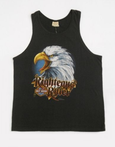 Vintage 80s Harley Davidson Righteous Ruler Motorcycle Biker Tank Top L A | eBay