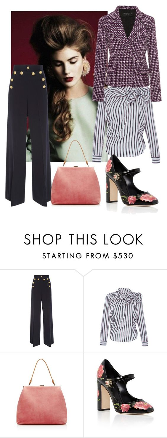 """""""1990's style"""" by shistyle ❤ liked on Polyvore featuring RED Valentino, Isabel Marant, Mansur Gavriel, Dolce&Gabbana and Maison Rabih Kayrouz"""