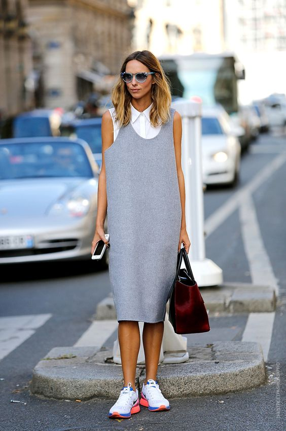 Thestreetfashion5xpro: In the Street...Grey, the new black...For https://vogue.it: