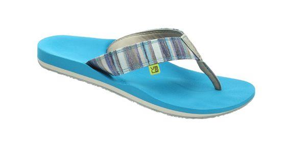 myVALE Flip Flop Zehensandale Herren - Modell Roper Ocean men türkis / blau / weiß mit individuellen Fußbett nach Fußabdruck  handmade thong - made in Germany