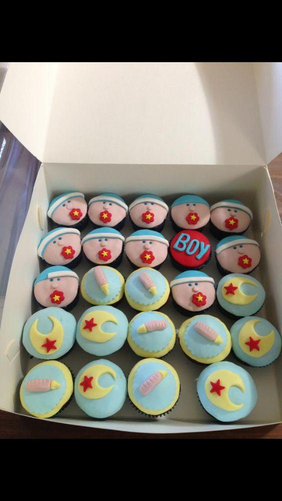 Baby Boy cupcakes.. Soo cute!